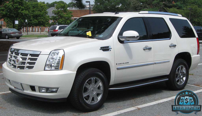 Win a brand NEW Cadillac Escalade!